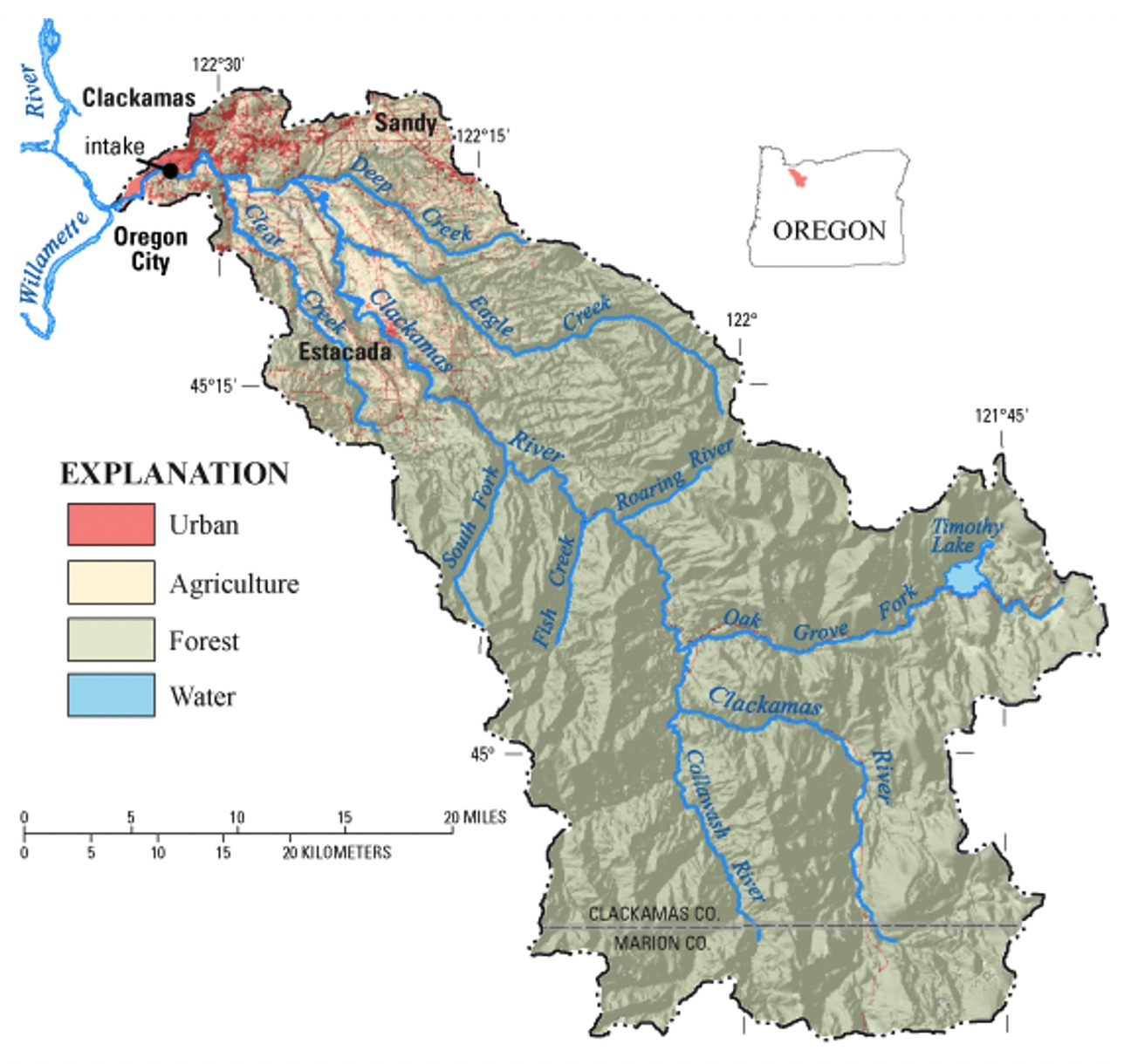SWA watershed map