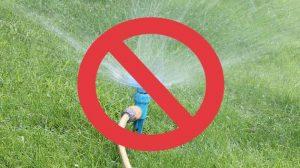 no using sprinklers